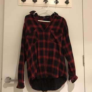 Red And Black Checked Shirt Size 8