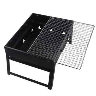 PORTABLE OUTDOOR CHARCOAL BARBEQUE FOLD & GO BBQ GRILL NEW