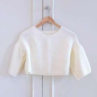 White/cream midriff sweater size S