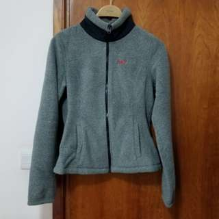 Abercrombie A&F grey fleece jacket, Size M