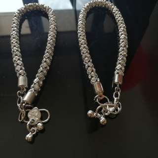 Stone work anklet