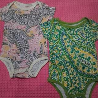Carter's Body Suit 2in1 6-12 Months (Batik Version)