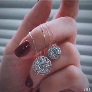 鑽石大餅項鍊~41份或1卡款