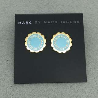 Marc Jacobs Sample Earrings 淺藍配金色花花耳環
