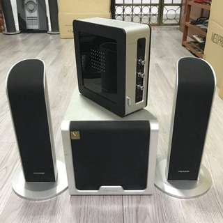MICROLAB FC361 2.1 MULTIMEDIA SPEAKER SYSTEM FOR LAPTOP AND DESKTOP PC/COMPUTERS !!!