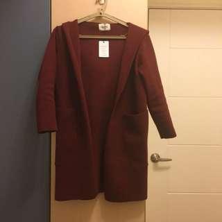 🚚 毛線紅色大衣