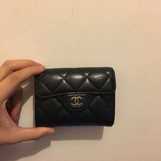 Chanel card holder coins bag