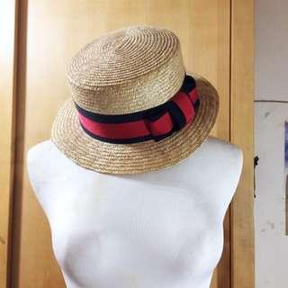 緞帶編織草帽