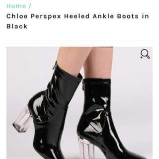 Public Desire Clear Heel Boots