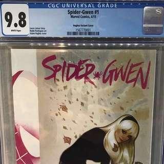 Spider Gwen #1 Adam Hughes 1:100 variant CGC 9.8