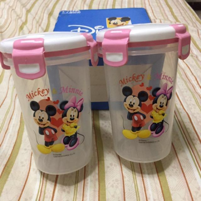 全新正版迪士尼密封樂扣樂扣耐熱環保杯(水杯)2入