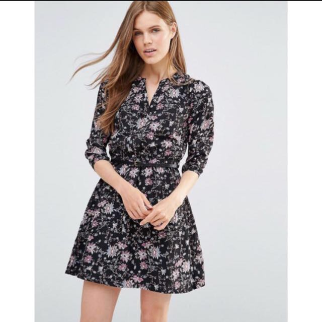 3/4 sleeve floral print dress size 6