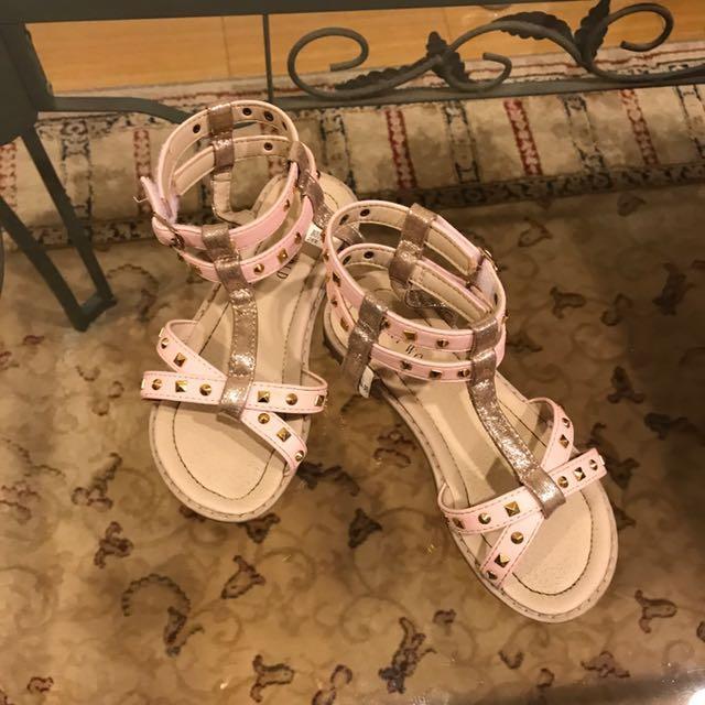 女童時尚羅馬風涼鞋