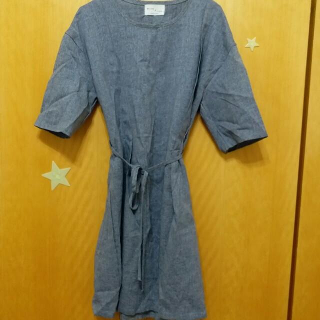 【韓國購入】一件式洋裝(藍色)