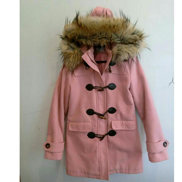 粉紅牛角外套