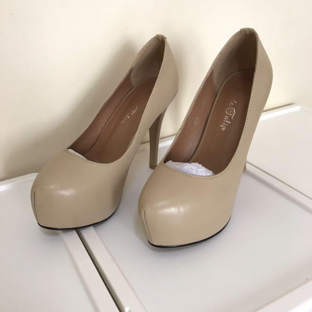 韓國訂製裸色高跟鞋