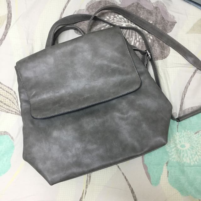 灰色大理石紋路小後背包