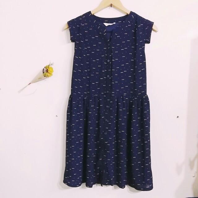 深藍無袖洋裝  #我的女裝可超取