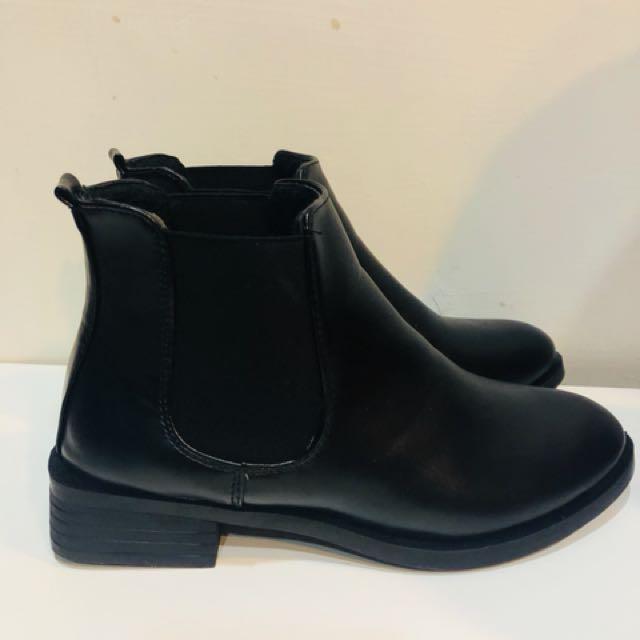 韓版方形短靴