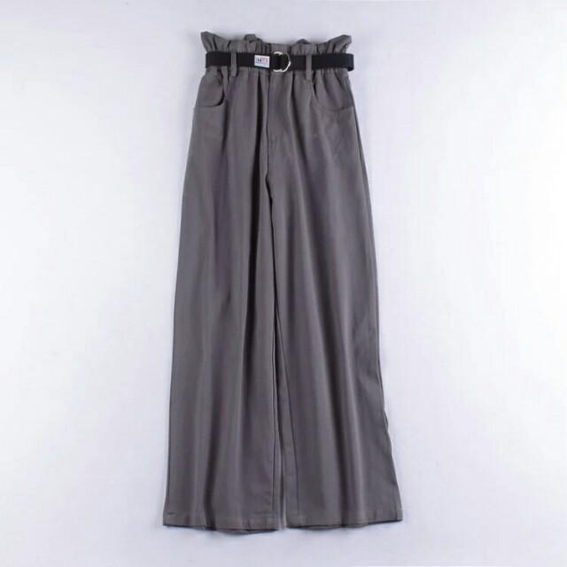 時尚顯瘦休閒闊腿褲