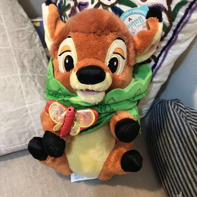 正版 迪士尼小鹿玩偶