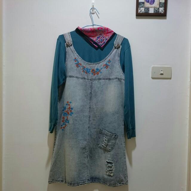 #兩百元丹寧  背心裙