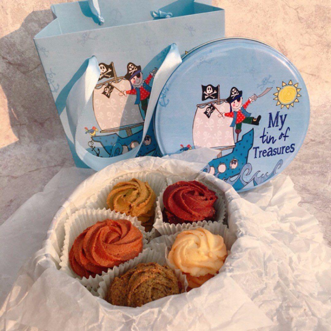 聖誕節交換禮物禮物 手工餅乾鐵盒 五種口味一次滿足