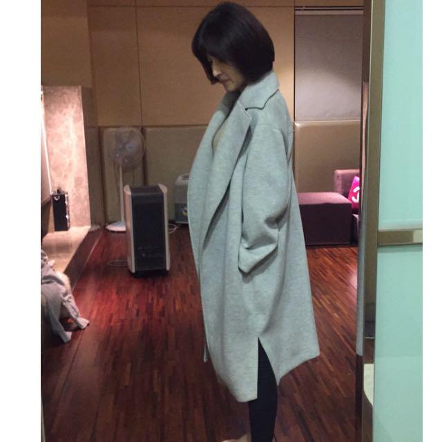 灰色 太空棉 大衣外套 大降價