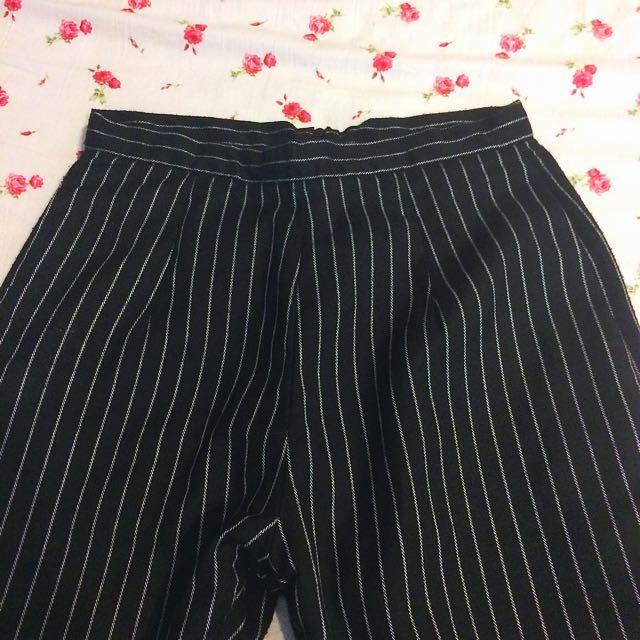直條紋 OL褲