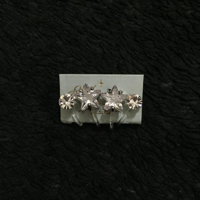 百貨專櫃 Renee' Jewelry 星星夾式耳環