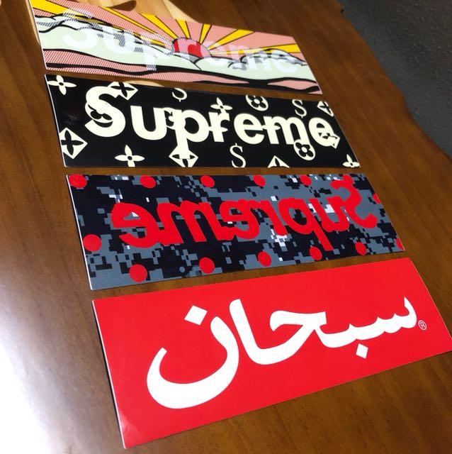 🔴 Supreme Box Sticker S21 4pcs1set ( HK AAA )