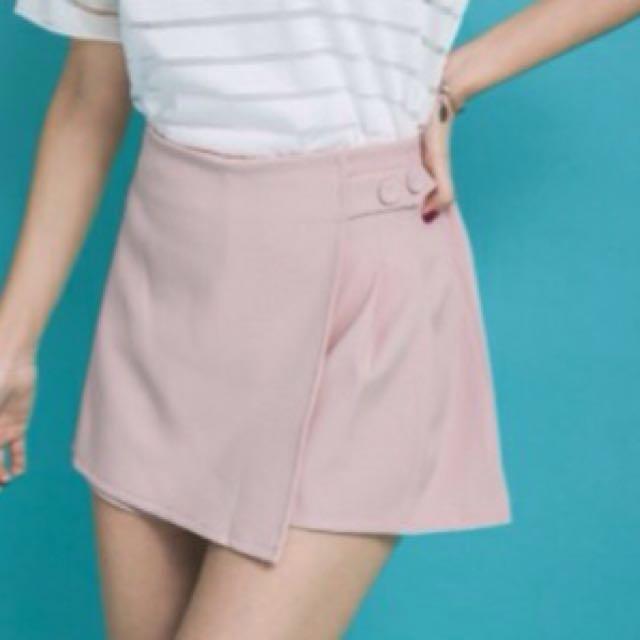 氣質A字鬆緊褲裙