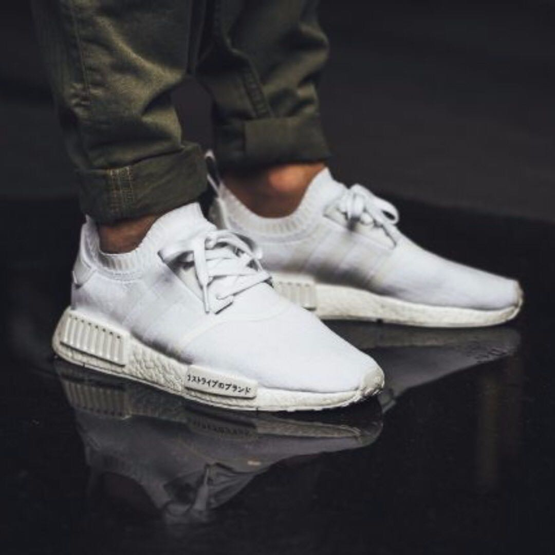 eec9ffbf0 Adidas Originals NMD R1 PK Japan Triple White Primeknit