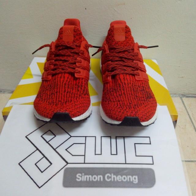 a1449451f9f34 Adidas Ultra Boost 3.0 Solar Red