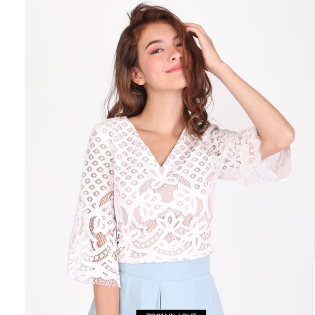 868d3171394cdd AFA MILA LACE TOP (as seen on)