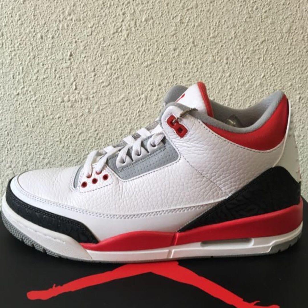 vente chaude en ligne 63510 53f4d Air Jordan 3 Fire Red US8.5