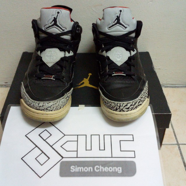 new products d581b 8d47a Air Jordan Son of Mars Low Black Cement, Men s Fashion, Footwear on ...