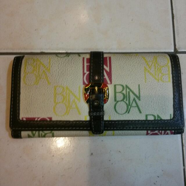 Authentic Bonia Long Wallet All Leather