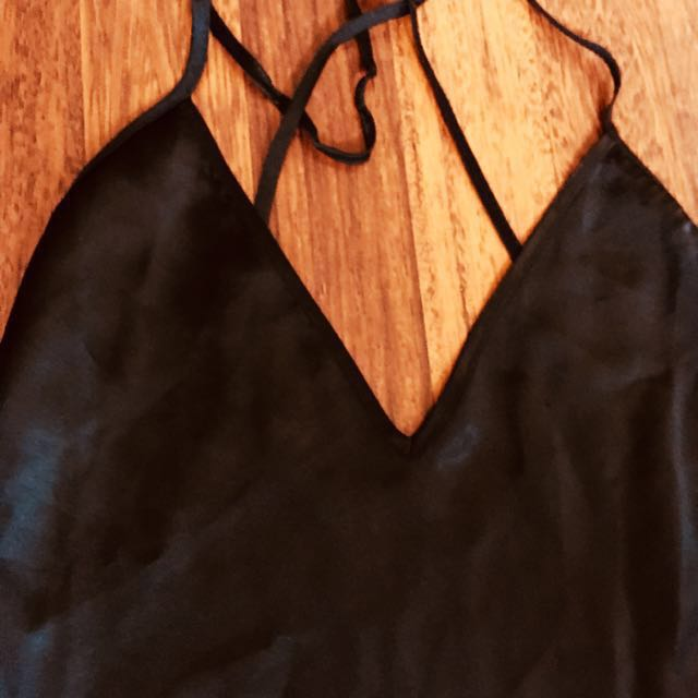 backless silk dress