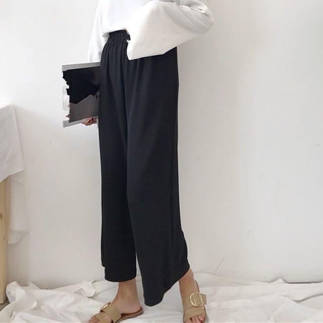 Basic long flowy wide pants