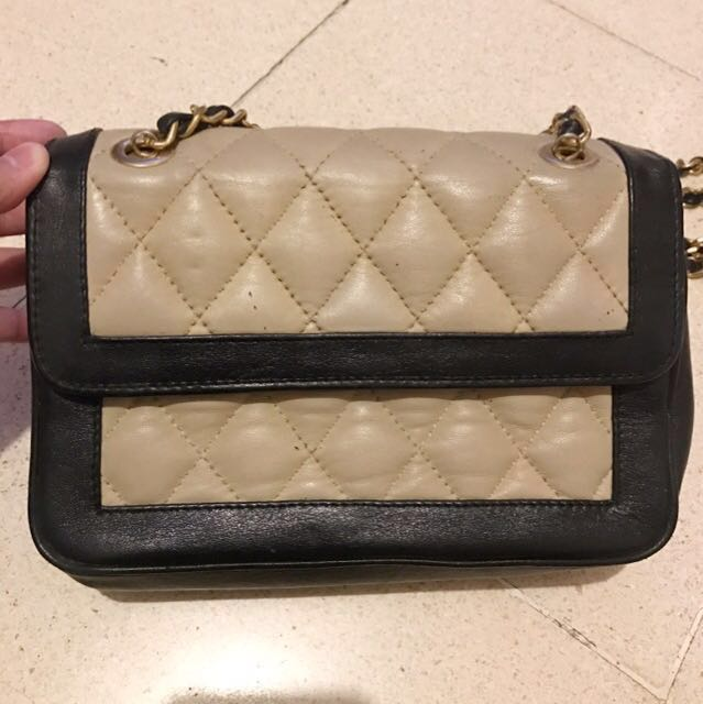 Black & Creme Bag (Leather)