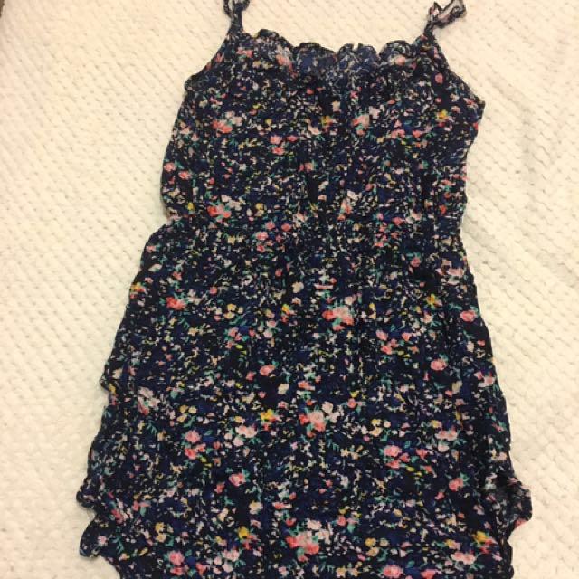 Blue floral summer dress