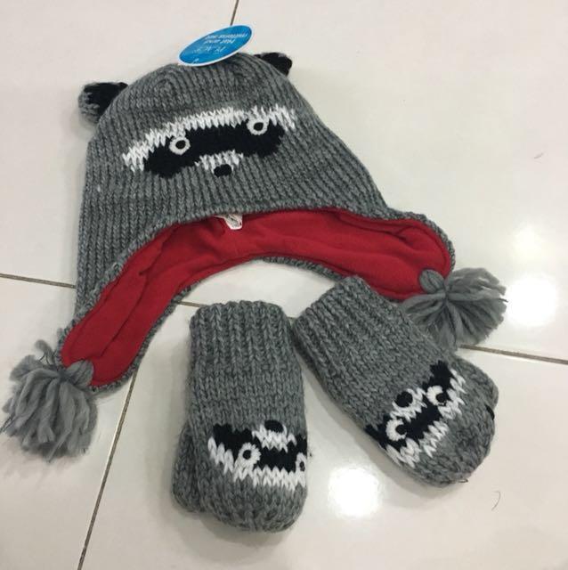 BN The Children Place hat & gloves/ mittens set