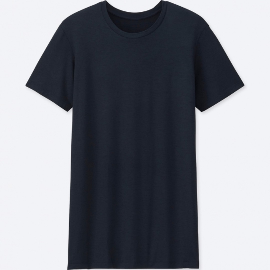 BNWT UNIQLO MEN HEATTECH Crew Neck T-Shirt (Short Sleeve)