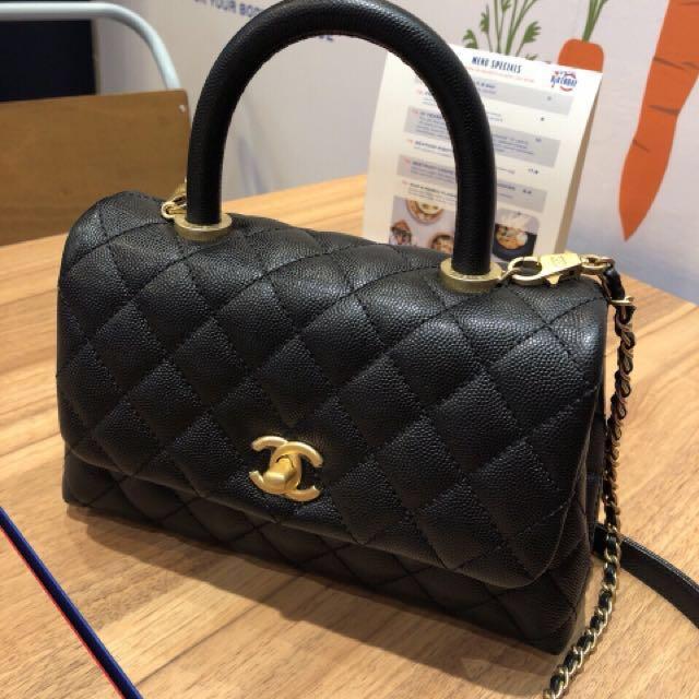 b3bd6a162e1f Brand New Chanel Coco Handle Bag Mini size