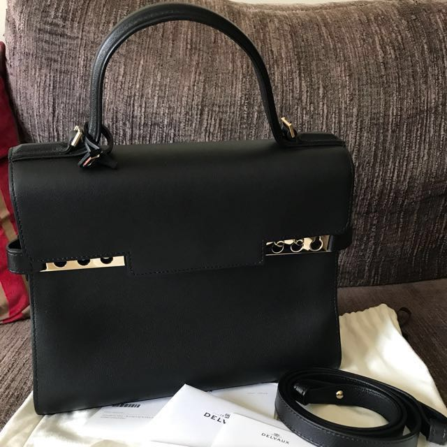 cc06c8211 BRAND NEW DELVAUX TEMPETE MM IN BLACK WITH GOLD HARDWARE, Women's ...