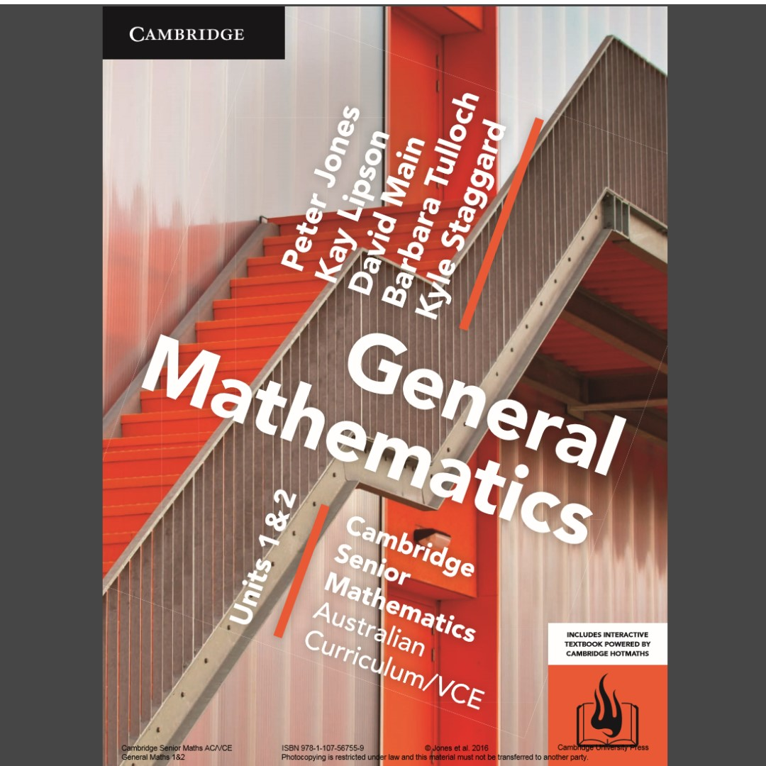 Cambridge General Maths PDF file, Textbooks on Carousell