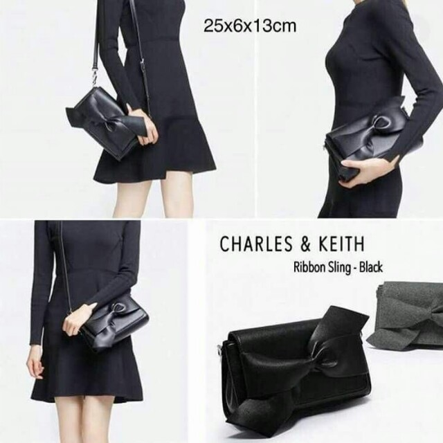 CK RIBBON CLUTCH
