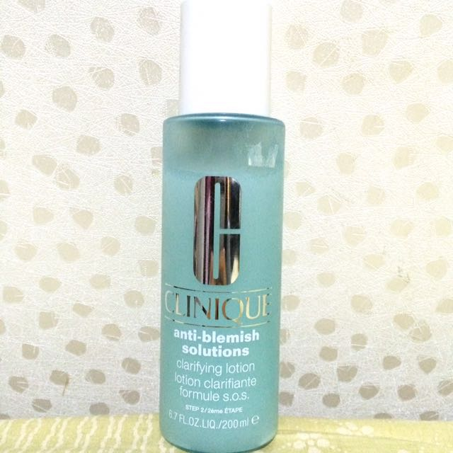 Clinique Anti-Blemish toner lotion acne