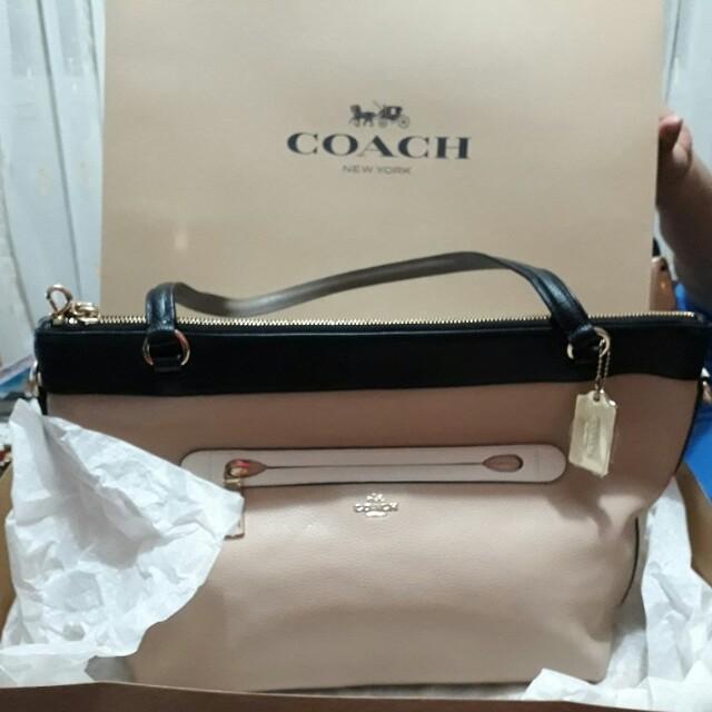 Coach Bag (beige with black)